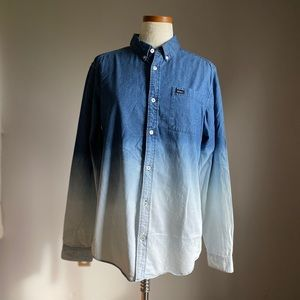RVCA Ombré Denim Shirt Size M